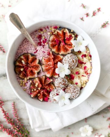 Pink Chia Pudding with Figs